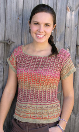 Aztec Tee in Knit One Crochet Too Dungarease - 1902 - Downloadable PDF