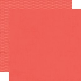 """Simple Stories So Happy Together Double-Sided Cardstock 12""""X12"""" 25/Pkg - Coral/Dots Simple Basic"""