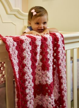 EASY BEGINNER'S Rectangle Granny Square Baby Blanket