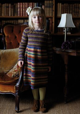 Elsie Dress in Rowan Felted Tweed DK - Downloadable PDF