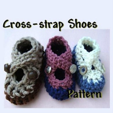 Cross Strap Shoes (booties) | Crochet Pattern by Ashton11
