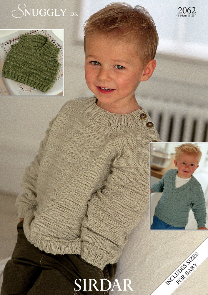 Slipover And Sweaters In Sirdar Snuggly Dk 2062