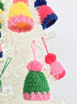 Pom Pom Beanie Hat Ornaments