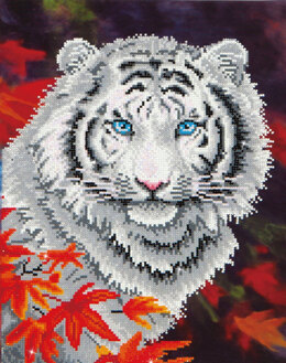 Diamond Dotz White Tiger in Autumn Diamond Dotz Kit