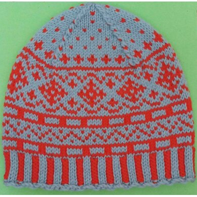 Two Color Fair Isle Hat