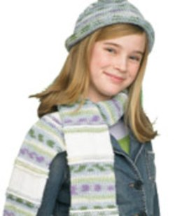 Hat and Scarf in Red Heart Super Saver Economy Solids - LW1493