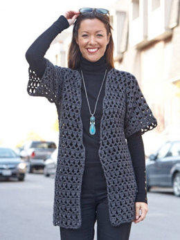 Perfect Office Crochet Jacket in Caron Simply Soft - Downloadable PDF