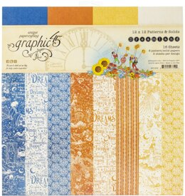 """Graphic 45 Double-Sided Paper Pad 12""""X12"""" 16/Pkg - Dreamland, 8 Designs/2 Each"""