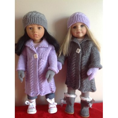 """Cable Coat for 18"""" Dolls"""