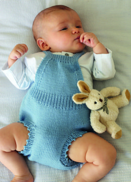 """Romper Dress"" - Dress Knitting Pattern For Babies in Debbie Bliss Baby Cashmerino - CF05"