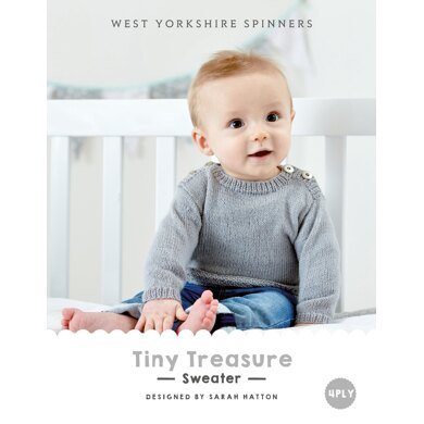 Tiny Treasures Sweater in West Yorkshire Spinners Bo Peep 4 Ply - DBP0020 - Downloadable PDF