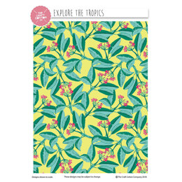 Craft Cotton Company Natural History Museum Explore the Tropics - Leaf