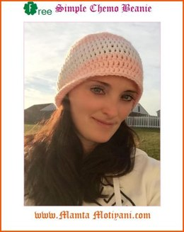 Free Chemo Hat Crochet Pattern Simple Unique Beanie