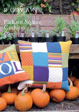 PicKnit Square Cushion in Rowan Pure Wool Worsted