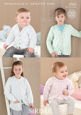 Boy's and Girl's Cardigans in Sirdar Snuggly Spots DK - 4565