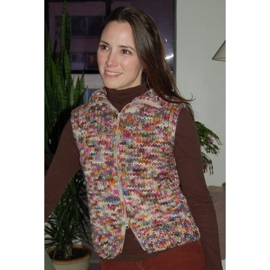Vest with Collar to Knit