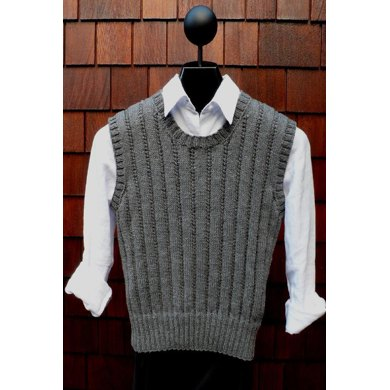 MS 202 Ribbed Pullover Vest
