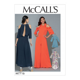 McCall's Misses' Dresses and Jumpsuit M7716 - Sewing Pattern
