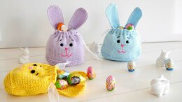 Knitting Pattern - cute Bunny Bag - Easter Bag - No.159E