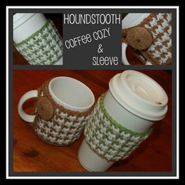 Houndstooth Coffee Cozy & Coffee Sleeve