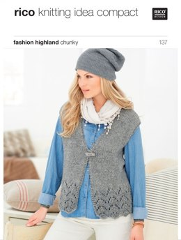 Cardigan and Waistcoat in Rico Fashion Highland Tweed - 137
