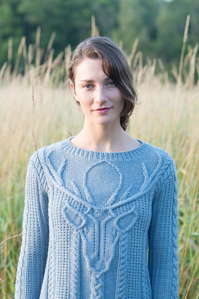 Stag Head Pullover Knitting Pattern By Norah Gaughan