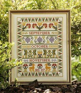Historical Sampler Company Autumn Band Sampler Cross Stitch Kit
