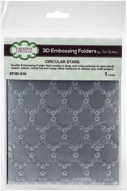 """Creative Expressions 3D Embossing Folder 5.75""""X7.5"""" - Cicular Stars"""