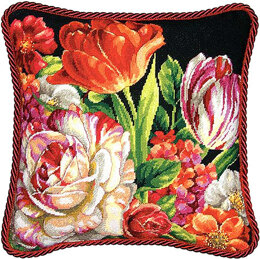 Dimensions Bouquet on Black Tapestry Kit - 35.5 x 35.5 cm