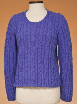 Top-Down Cable Pullover #167