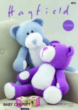 Bear Toy in Hayfield Baby Chunky - 4836 - Downloadable PDF