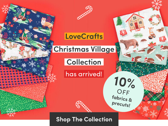 10 percent of new exclusive Christmas Village collection!