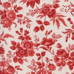 Moda Fabrics 3 Sisters Snowberry Snow Berry Floral Delicate Sprays Red