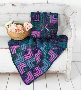 Blanket and Cushion in Stylecraft Special Aran and Carnival - 9306 - Leaflet