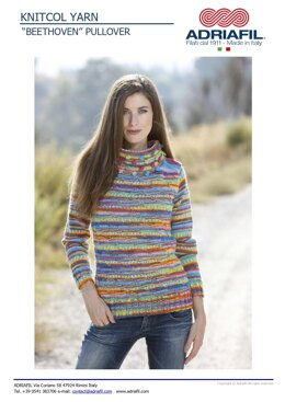 Beethoven Sweater in Adriafil Knitcol - Downloadable PDF