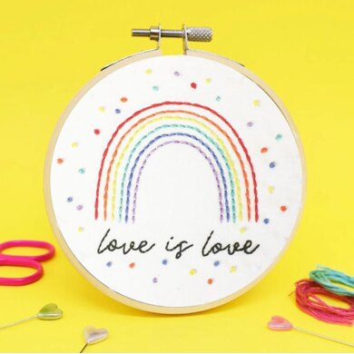 The Make Arcade Mini Embroidery Kit - Love is Love - 4in