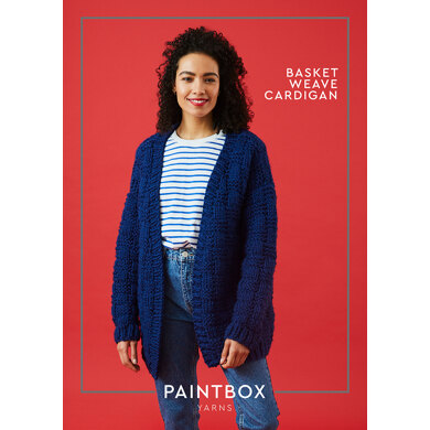 Basket Weave Cardigan in Paintbox Yarns Simply Super Chunky - Downloadable PDF