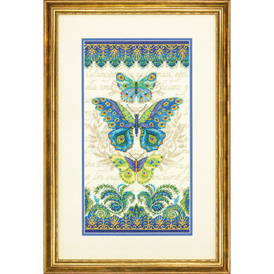 Dimensions Peacock Butterflies Cross Stitch Kit - 20.5cm x 38cm