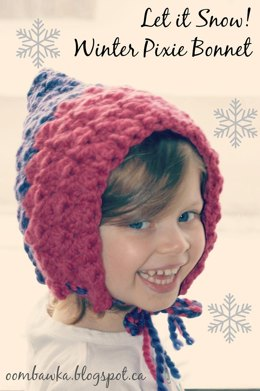 Let it Snow! Winter Pixie Bonnet