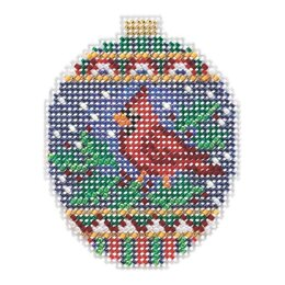 Mill Hill Christmas Cardinal Ornament Cross Stitch Kit - Multi