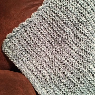 Mountain Brook Baby Blanket Loom Knitting pattern by Dayna Scoles