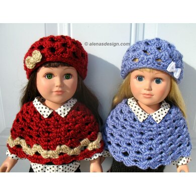 Doll Lace Hat and Poncho