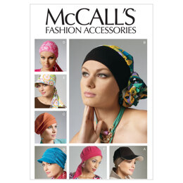 McCall's Headband Head Wraps and Hats M6521 - Paper Pattern Size All Sizes In One Envelope
