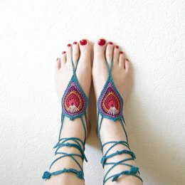 Barefoot Sandals Peacock Style