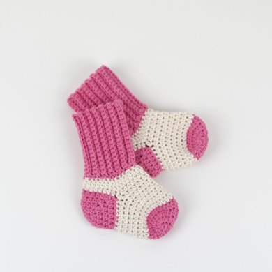 Two Tone Baby Socks