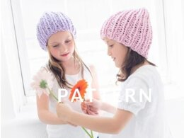 Mini Cotton Beanie in Loopy Mango Big Cotton - Downloadable PDF