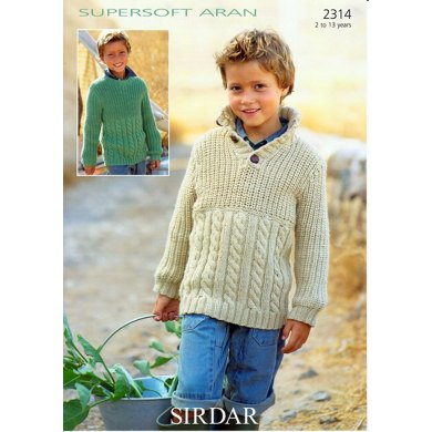 Sweaters in Sirdar Supersoft Aran - 2314
