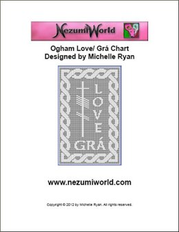 Ogham Large Love/ Grá Chart
