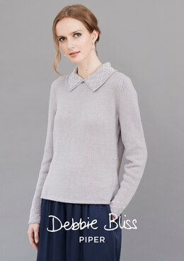 """Bibi Jumper"" - Jumper Knitting Pattern For Women in Debbie Bliss Piper - DB251"
