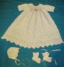 Foliage Lace Christening Gown